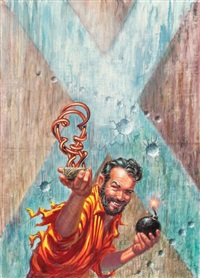 the space willies, ace double edition paperback cover by kelly freas