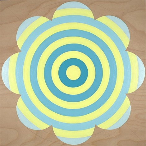 turquoise/yellow flower target by laura sue phillips