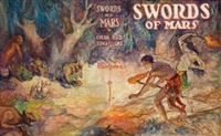 swords of mars, preliminary book cover by j. allen st. john