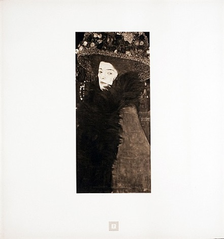 lady in a flowered hat from <i>aftermath</i> by gustav klimt