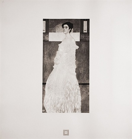 portrait of baroness wittgenstein from <i>aftermath</i> by gustav klimt