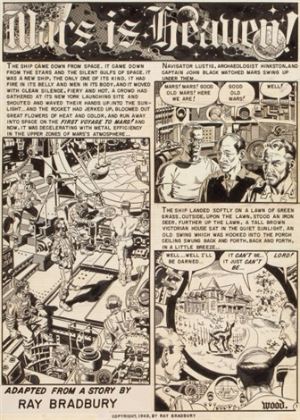 mars is heaven complete 8 page story weird science 18 ec comics 8 works by wally wood
