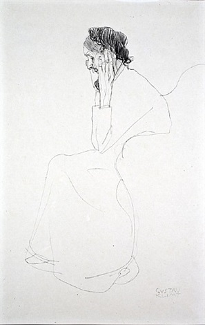 <u>portrait of an old lady</u> from fünfundzwanzig handzeichnungen by gustav klimt