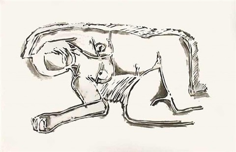 reclining nude by tom wesselmann