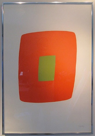 orange and green by ellsworth kelly
