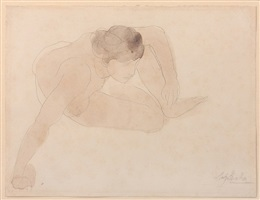 small crouching figure (petite figure accroupie) by auguste rodin