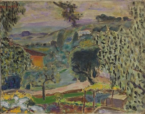 paysge du cannet by pierre bonnard