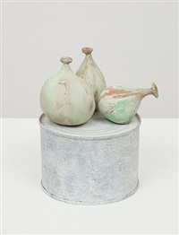 figs on tin stand by joel tomlin