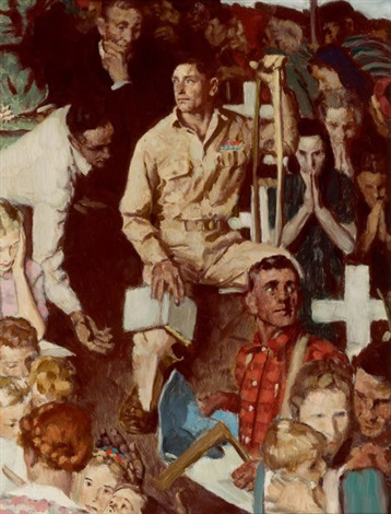 the long shadow of lincoln study for story illustration the saturday evening post by norman rockwell