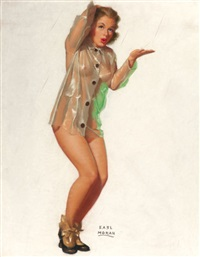 marilyn monroe, brown & bigelow calendar illustration by earl steffa moran