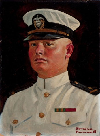 portrait of arthur e redding by norman rockwell