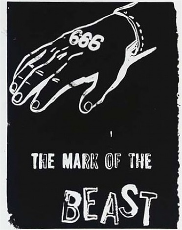 the mark of the beast (negative) by andy warhol