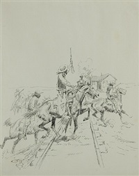 the bandits hoped for a rich haul by charles marion russell