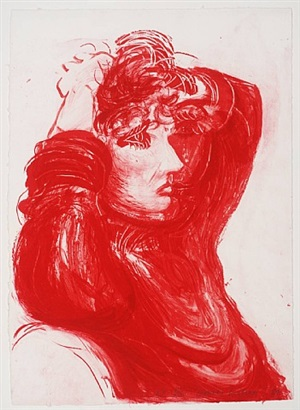 red celia by david hockney