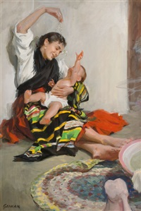 mother and child by john gannam