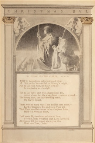 christmas eve illus of poem by maxfield parrish