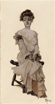 seated girl by walter dean goldbeck