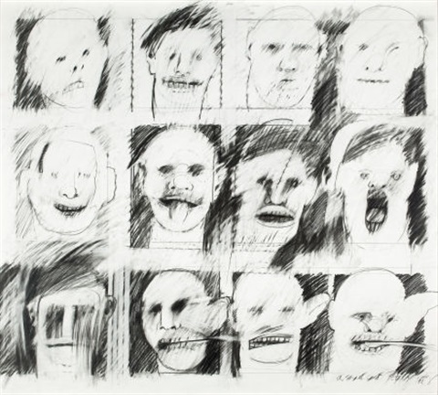 pencil headspencil cast from the audience series by peter greenaway