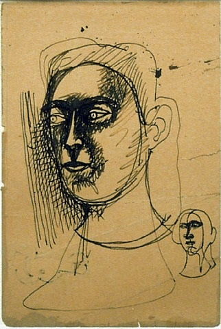 untitled (two heads) by arshile gorky