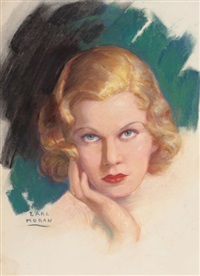 portrait of jean harlow by earl steffa moran
