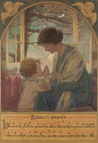a child's prayer, book cover by jessie willcox smith