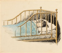 child sleeping, a child's prayer interior book illustration by jessie willcox smith