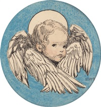 angel, a child's prayer interior book illustration by jessie willcox smith