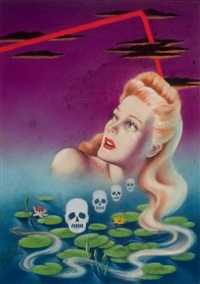 murder with long hair, atlas mystery digest cover by cardwell spencer higgins