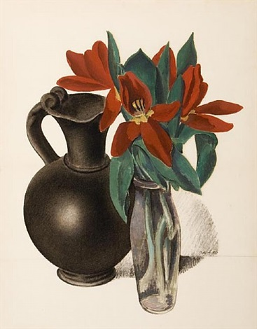 tulips - suspended forms by charles sheeler