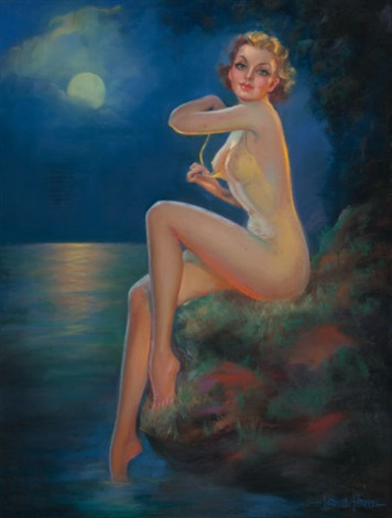 the sea nymph brown bigelow calendar pin up by laurette patten on