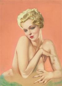 varga girl (partial nude) by alberto vargas