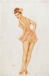 my boy friend often tells me/that our love is indestructible; although i'm his biggest asset/it's too bad i'm not deductible, varga girl, march... by alberto vargas