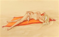 i'm not afraid of getting burned - are you?, vargas girl, playboy pin-up, january by alberto vargas
