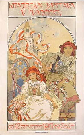 regional exposition at ivancice 1913 by alphonse mucha