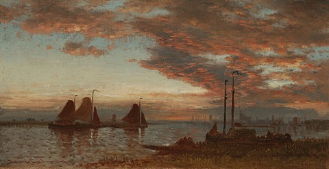 twilight on the bay by samuel colman
