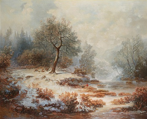 fishing in winter by william charles anthony frerichs