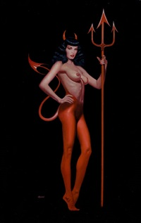 wicked bettie page by ron lesser