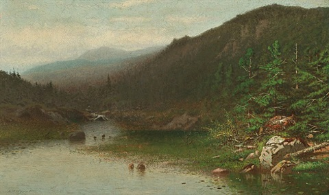 cedar mountain, maine by alexander helwig wyant
