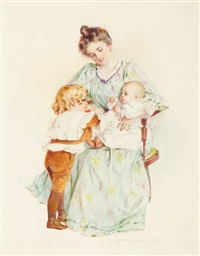 mother and children by maud humphrey