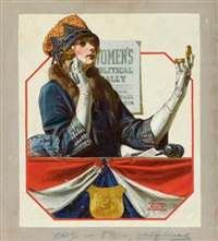 women's political rally, collier's cover, may 10 by walter beach humphrey