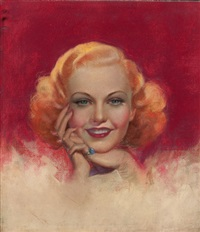 ginger rogers, movie magazine cover by zoe mozert