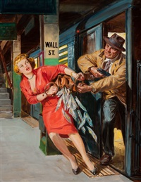 remember rose for murder!, dime detective pulp cover by norman saunders
