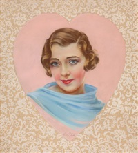 portrait of ruby keeler by mila baine