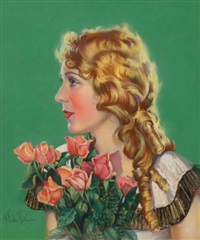 portrait of mary pickford by mila baine