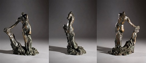 study for galatee by auguste rodin
