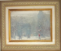 washington square park in winter by johann berthelsen