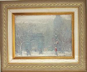 washington square park in winter by johann berthelsen