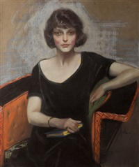 portrait of a young woman, saturday evening post cover, march 11, 1922 by neysa mcmein