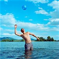 untitled (boy with ball) by evžen sobek