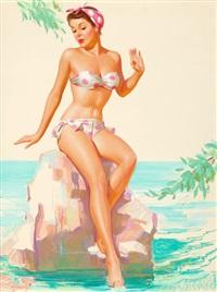 polka dot bikini by knute o. munson